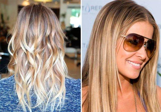 Светлое брондирование на русые волосы
